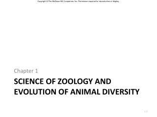 Science of Zoology and Evolution of animal diversity