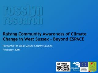 Raising Community Awareness of Climate Change in West Sussex - Beyond ESPACE