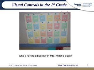 Visual Controls in the 1 st Grade