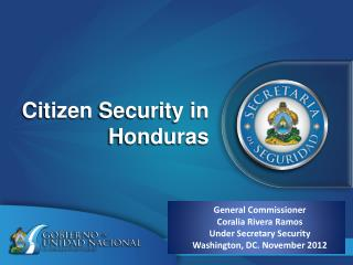 Citizen  Security in Honduras