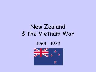 New Zealand  & the Vietnam War