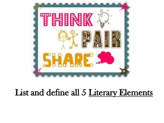List and define all 5 Literary Elements