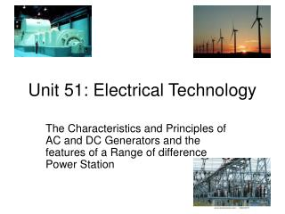 Unit 51: Electrical Technology