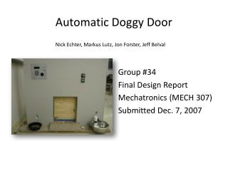 Automatic Doggy Door