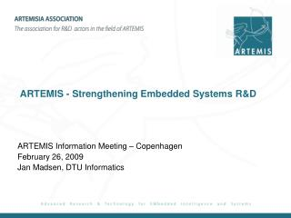 ARTEMIS - Strengthening Embedded Systems R&D