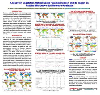A Study on Vegetation Optical Depth Parameterization and its Impact on  Passive Microwave Soil Moisture Retrievals