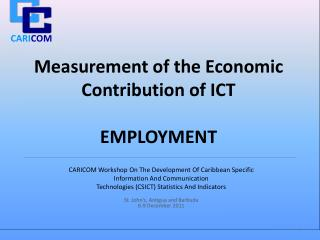 Measurement of the Economic Contribution of ICT  EMPLOYMENT