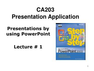 CA203 Presentation Application