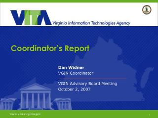 Coordinator's Report