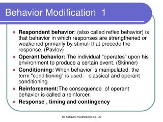 Behavior Modification   1