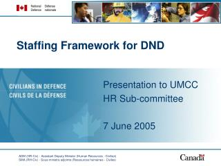Staffing Framework for DND