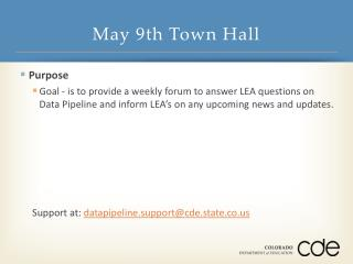 May 9th Town Hall
