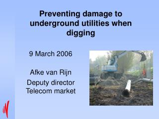 Preventing damage to underground utilities when digging
