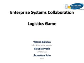 Enterprise Systems Collaboration Logistics Game