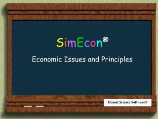 Economic Issues and Principles