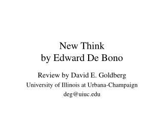 New Think  by Edward De Bono