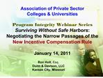 Program Integrity Webinar Series Surviving Without Safe Harbors ...