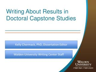 Writing About Results in Doctoral Capstone Studies