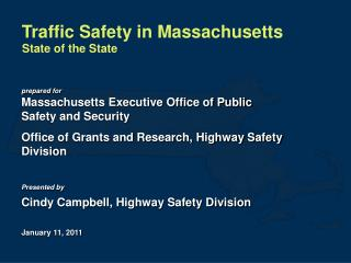 Traffic Safety in Massachusetts