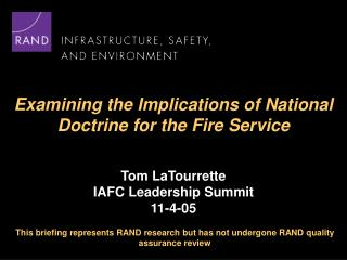 Examining the Implications of National Doctrine for the Fire Service