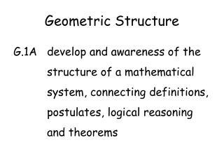 Geometric Structure