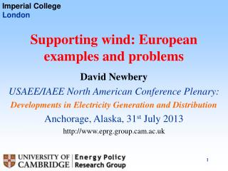Supporting wind: European examples and problems