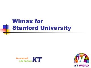 Wimax for Stanford University