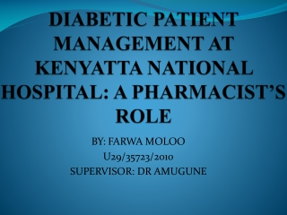 Management of Diabetes and Hyperglycemia in the Hospital Patient: