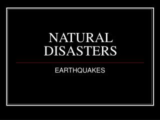 NATURAL DISASTERS BY COURTNEY FLOWERS