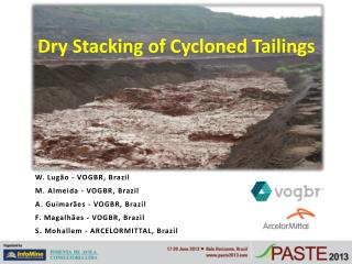 Dry Stacking of Cycloned Tailings