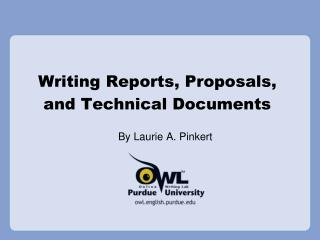 Writing Reports, Proposals, and Technical Documents