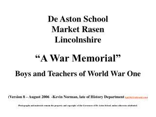 De Aston School Market Rasen Lincolnshire