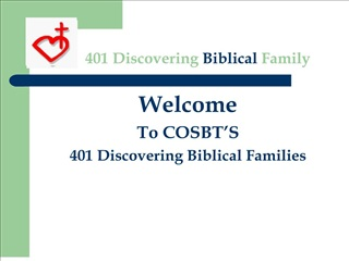 401 Discovering Biblical Family