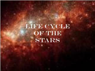 Life Cycle  of the  Stars