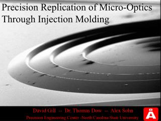 Precision Replication of Micro-Optics Through Injection Molding