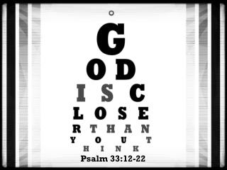 God sees us at all times.