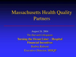 Massachusetts Health Quality Partners