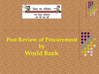 Post Review of Procurement  by  World Bank