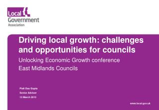Driving local growth: challenges and opportunities for councils