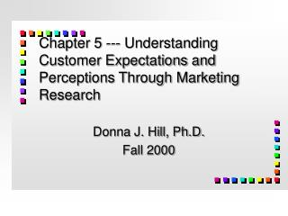 Chapter 5 --- Understanding Customer Expectations and Perceptions Through Marketing Research