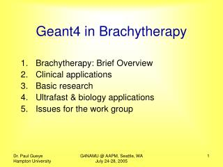 Geant4 in Brachytherapy