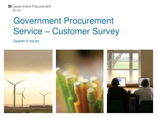 Government Procurement Service – Customer Survey