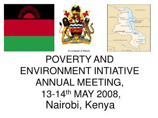 POVERTY AND ENVIRONMENT INTIATIVE ANNUAL MEETING,  13-14 th  MAY 2008,