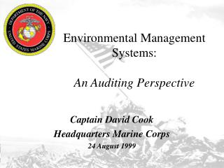 Environmental Management Systems: An Auditing Perspective