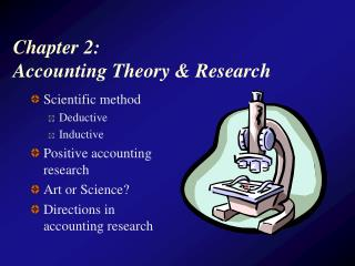 Chapter 2:  Accounting Theory & Research
