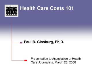 Health Care Costs 101