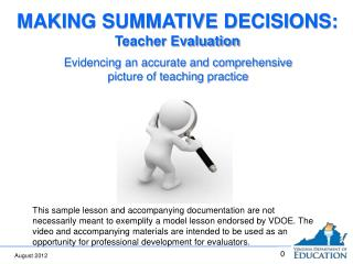 Evidencing an accurate and comprehensive picture of teaching practice