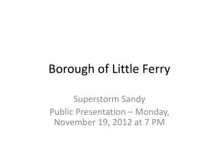 Borough of Little Ferry