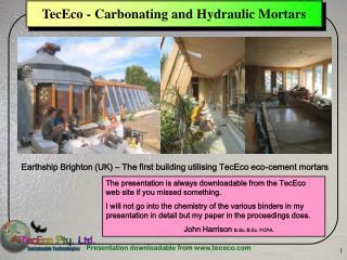 TecEco - Carbonating and Hydraulic Mortars