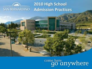 2010 High School Admission Practices